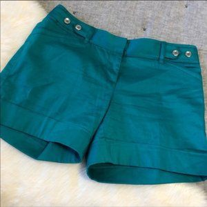 White House Black Market Teal Shorts Size 2
